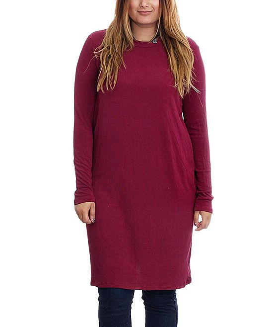 4cebcecbcad Red Long-Sleeve Tunic - Plus