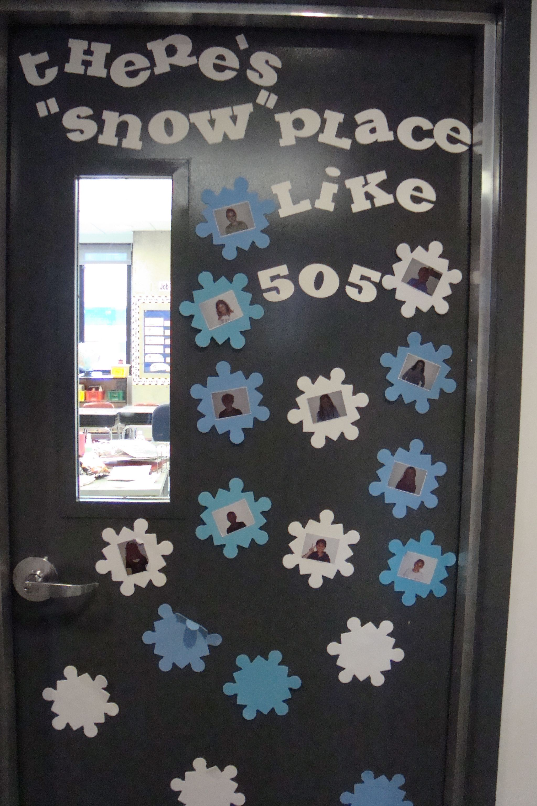 Classroom Door Decoration Ideas For Teachers ~ There s quot snow place like winter door decoration