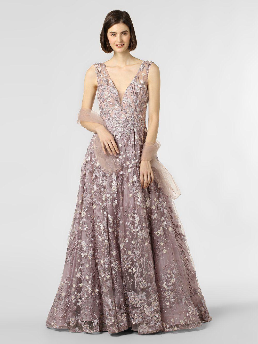Luxuar Fashion Abendkleid mit Stola lila  Luxuar fashion