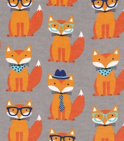 Snuggle Flannel Fabric-Dapper Fox JoAnns | Everything Foxy | Fox