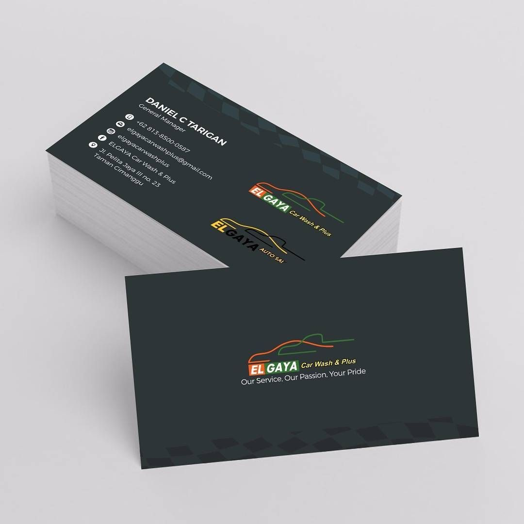 Double Side Business Card Design For Dantarigan General Manager Of Elgaya Car Wash Plus And Elgata Auto Salo Business Card Design Card Design Business Cards