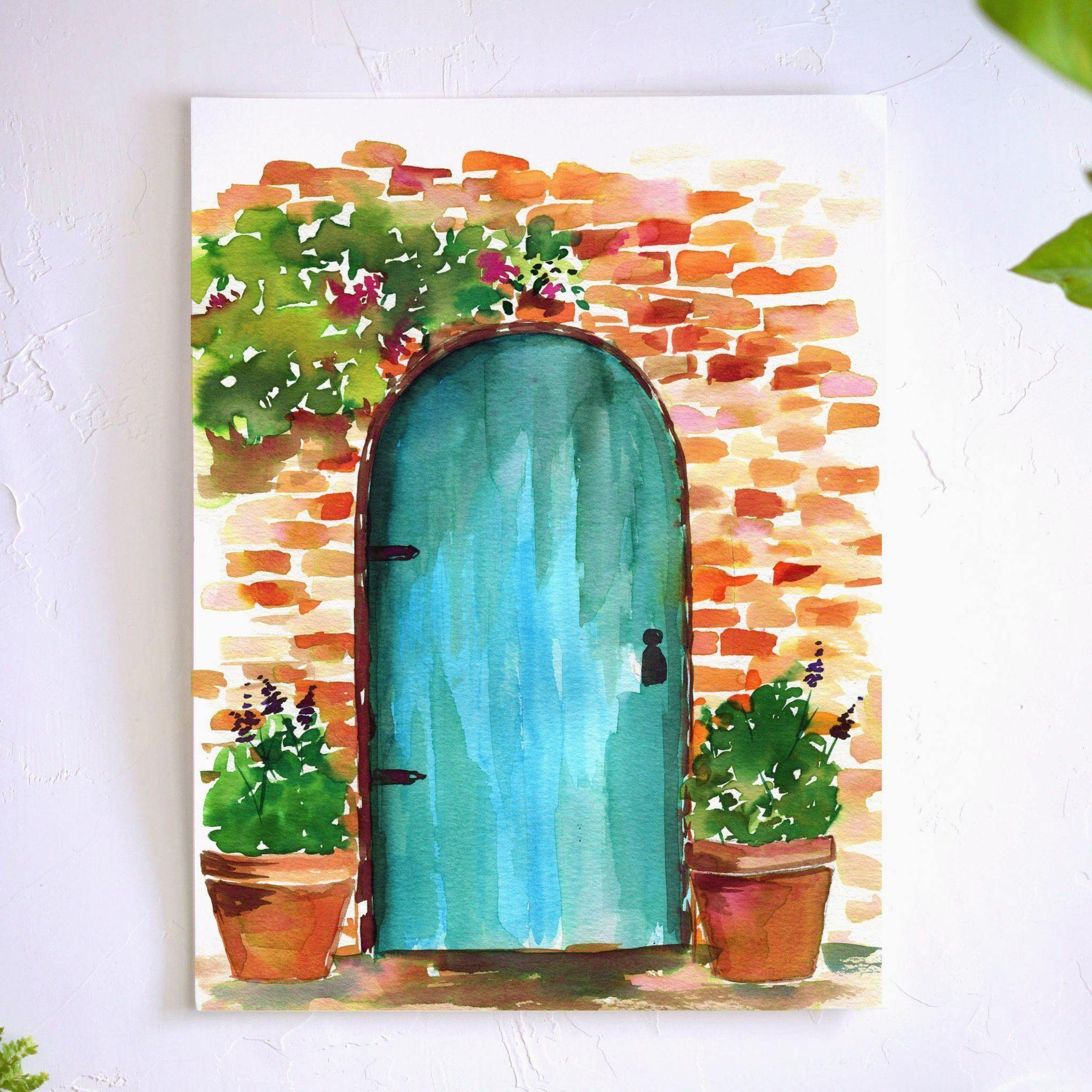Rustic Doorway Watercolor Kit - #watercolorart