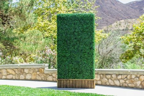 artificial boxwood hedge panels are being used for on interior using artificial boxwood panels with flowers id=11291