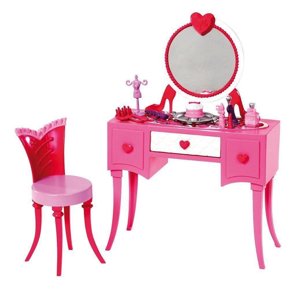 Amazon.com: Barbie Glam Vanity Furniture Set: Toys & Games ...