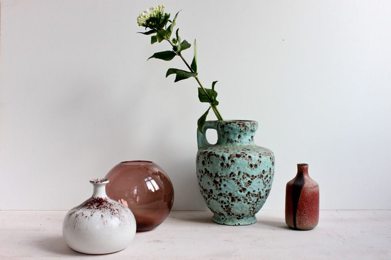 mixed vintage vases
