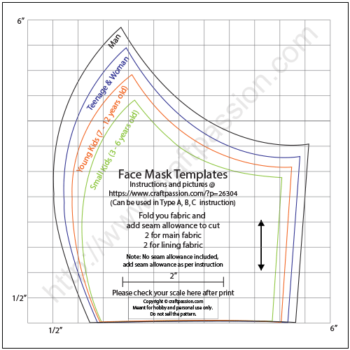 Face Mask Pattern Free Sewing Pattern Sewing Patterns Free