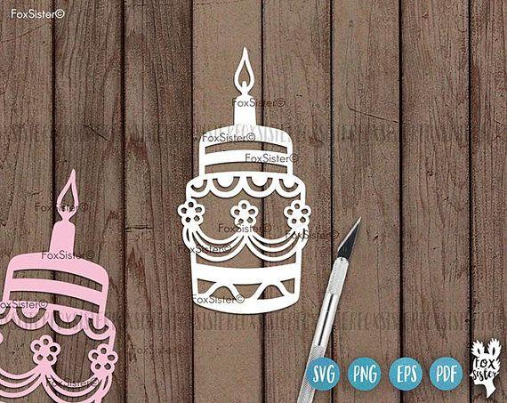 Birthday Cake Svg Bundle Cake Svg Birthday Cake Cut File Clipart