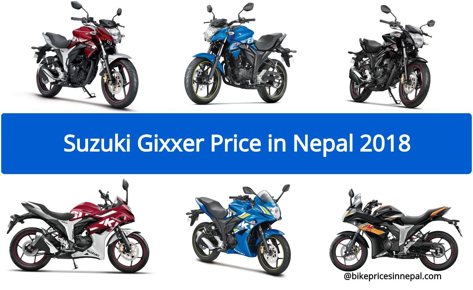 Official Suzuki Gixxer Price In Nepal Updated Suzuki Bike