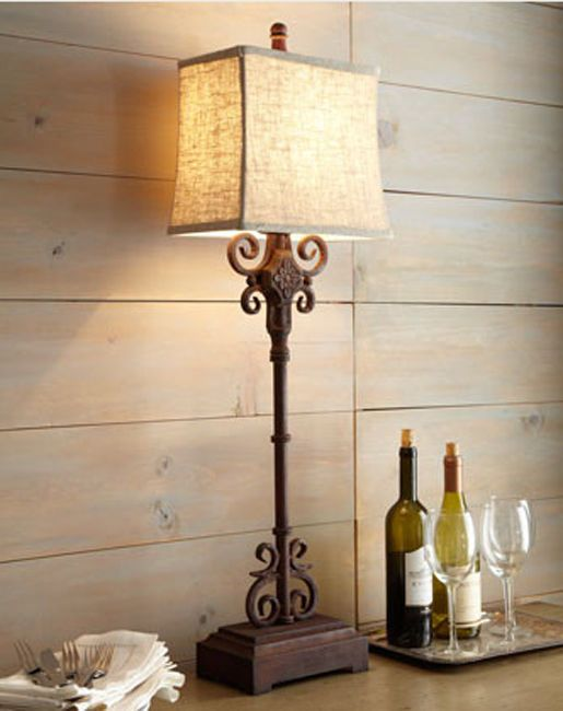 Astonishing Monterrey Buffet Table Lamp Wrought Iron Tuscan Spanish Home Interior And Landscaping Elinuenasavecom