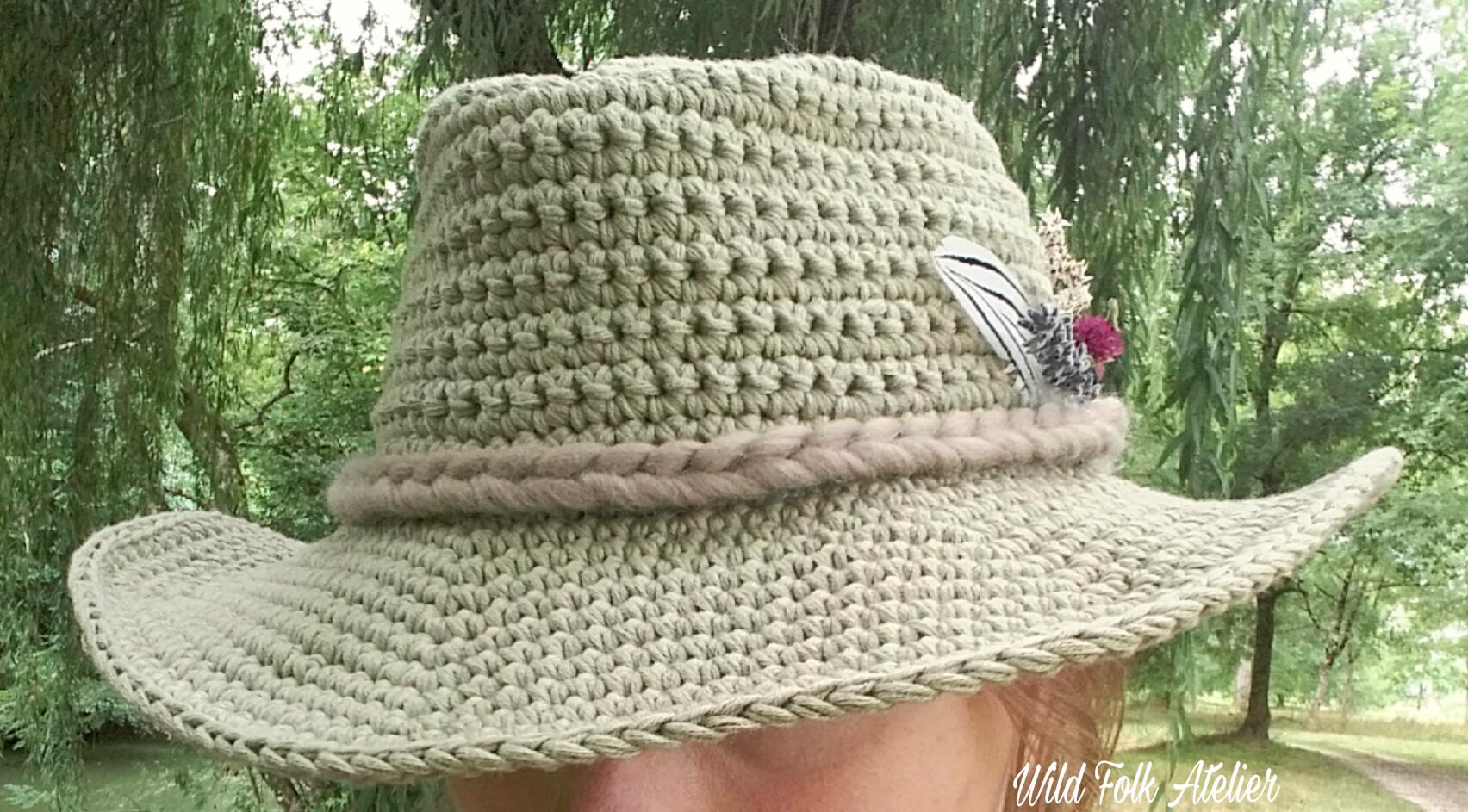 100% authentique bon ajustement profiter du prix le plus bas Patron Chapeau « Indiana » au Crochet ~ Indiana Crochet Hat ...
