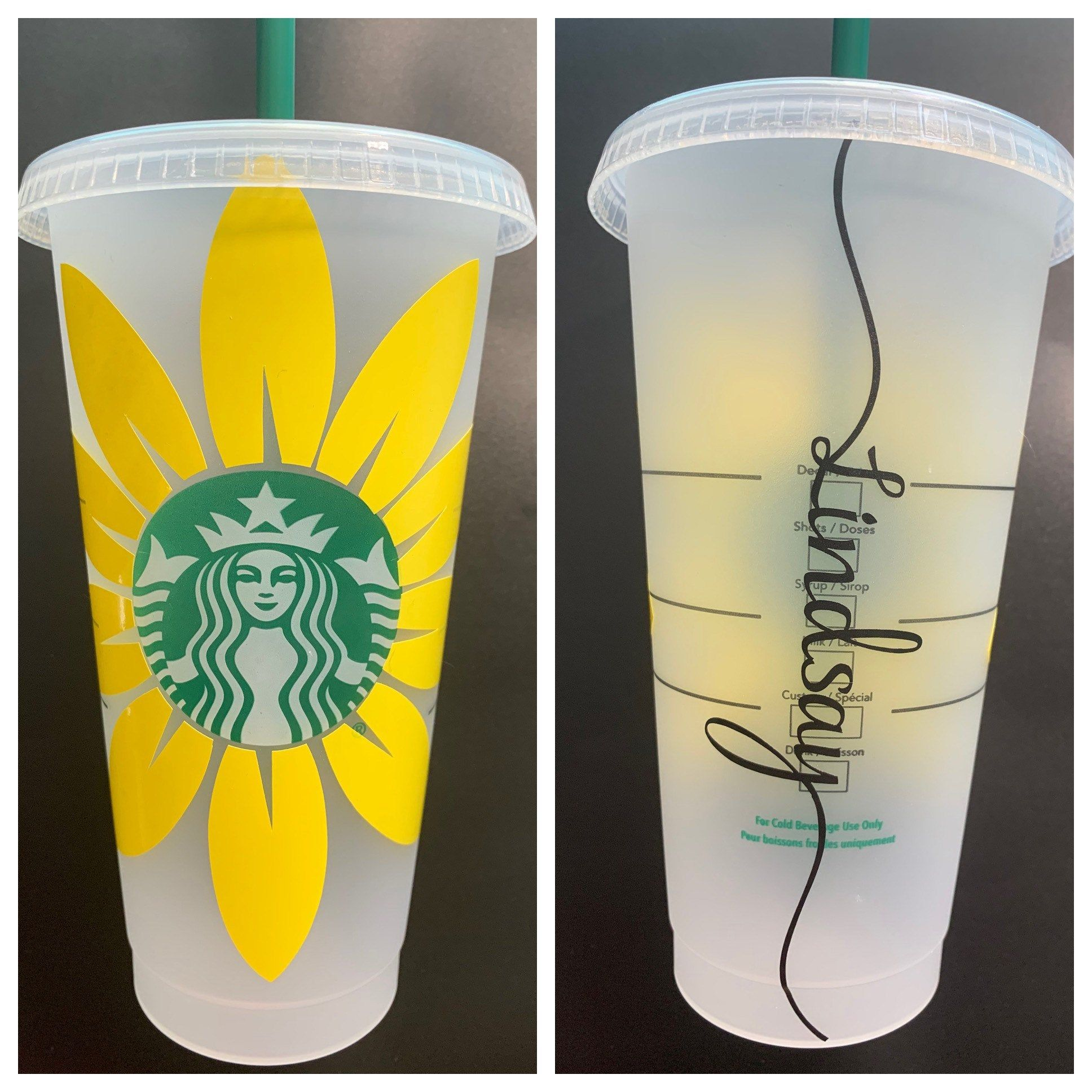 Download Sunflower Starbucks Cold Cup | Etsy in 2020 | Personalized ...