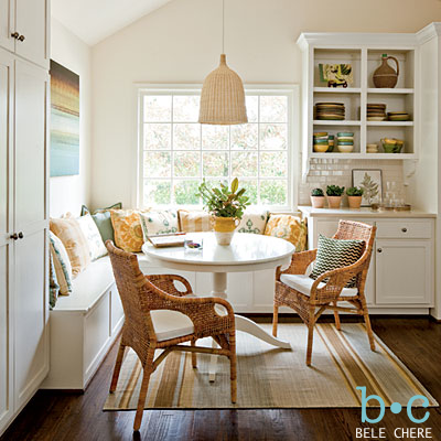 breakfast nook round-up: benches, banquettes, and built-ins