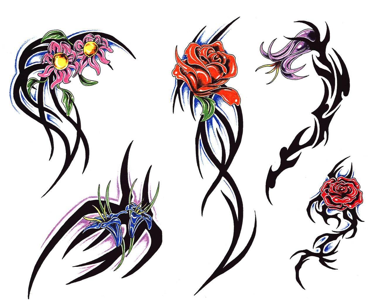 Free Design for Tribal Rose Tattoo Tribal rose tattoos