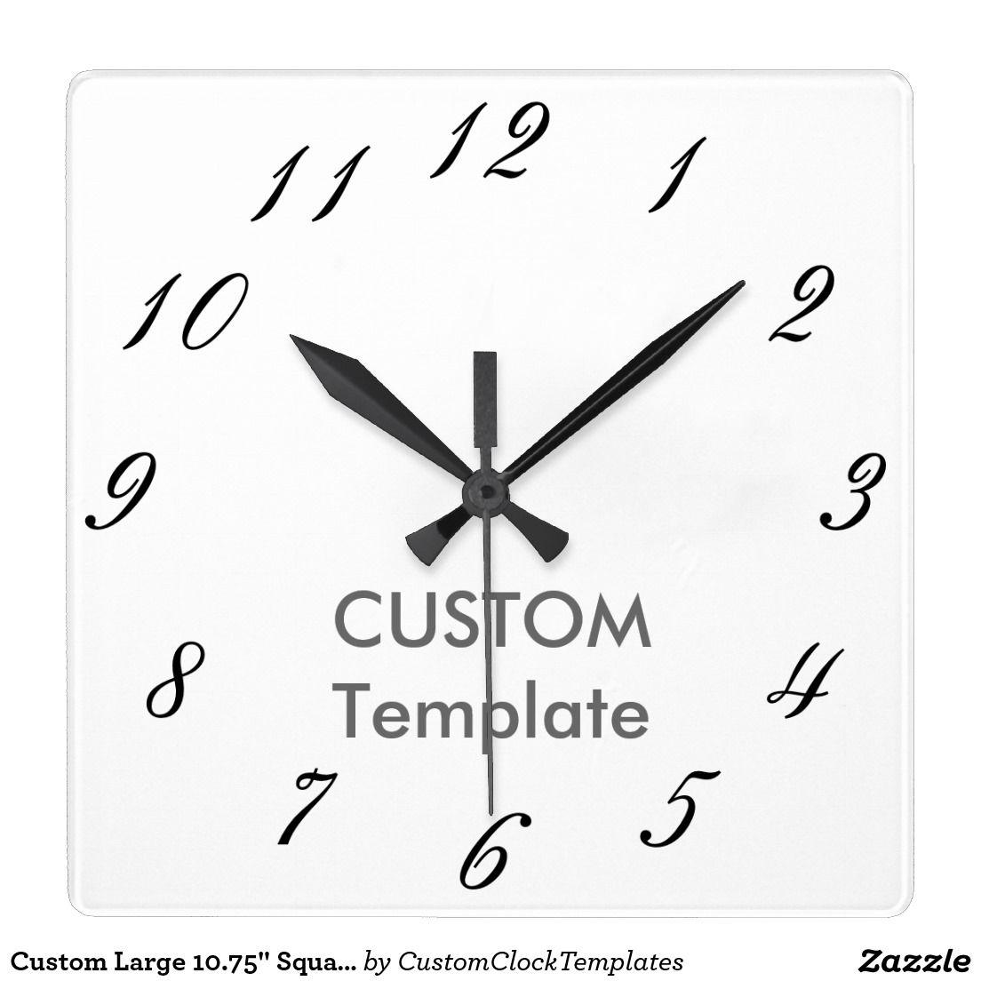 Custom Large 10 75 Square Wall Clock Lucia Square Wall Clock Clock Wall Clock