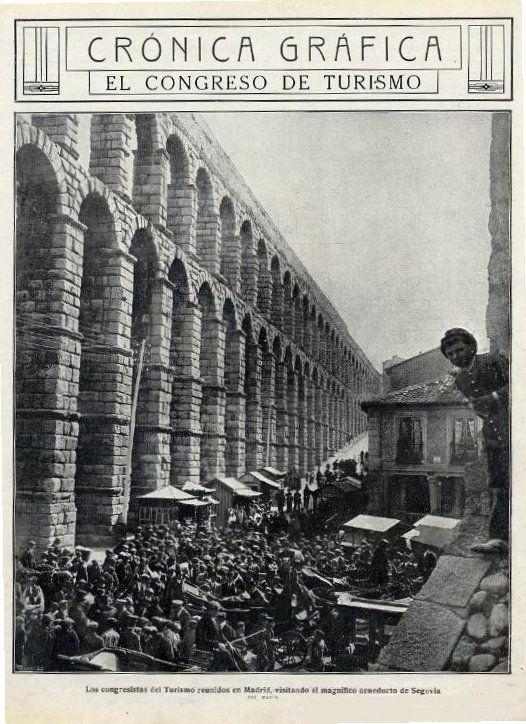 Los asistentes al congreso de Madrid vinieron a Segovia. 1912