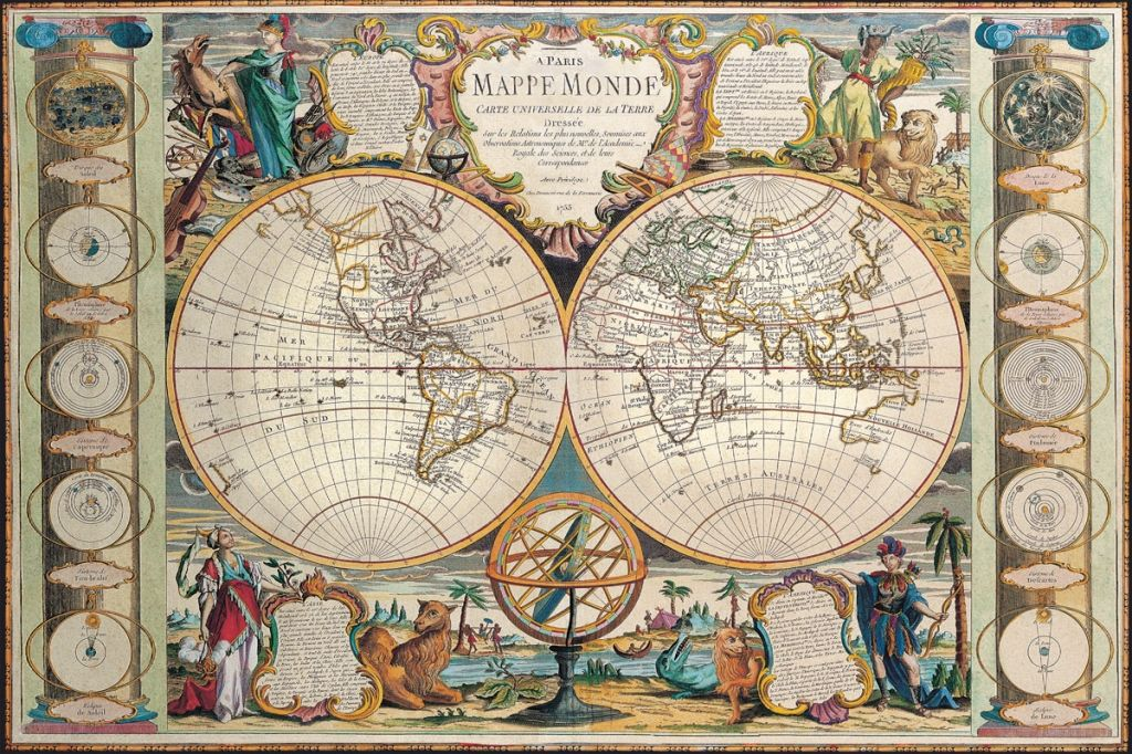 Mappe monde jean baptiste nolin 1755 cartography pinterest mappe monde jean baptiste nolin 1755 vintage world mapswall maps windowjeanswalmartcanadacartographytrip plannerglobes gumiabroncs Images