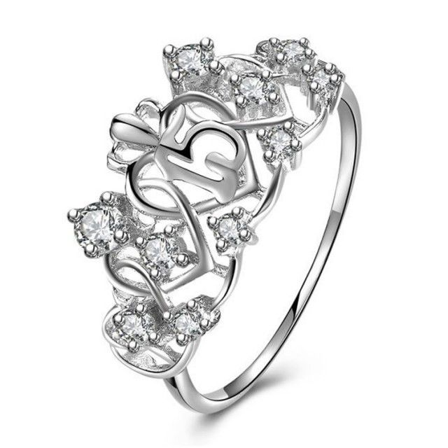5d07e9b27 ... where to buy white gold plated 925 sterling silver sweet 15 quinceanera  ring e679b 56e26 ...
