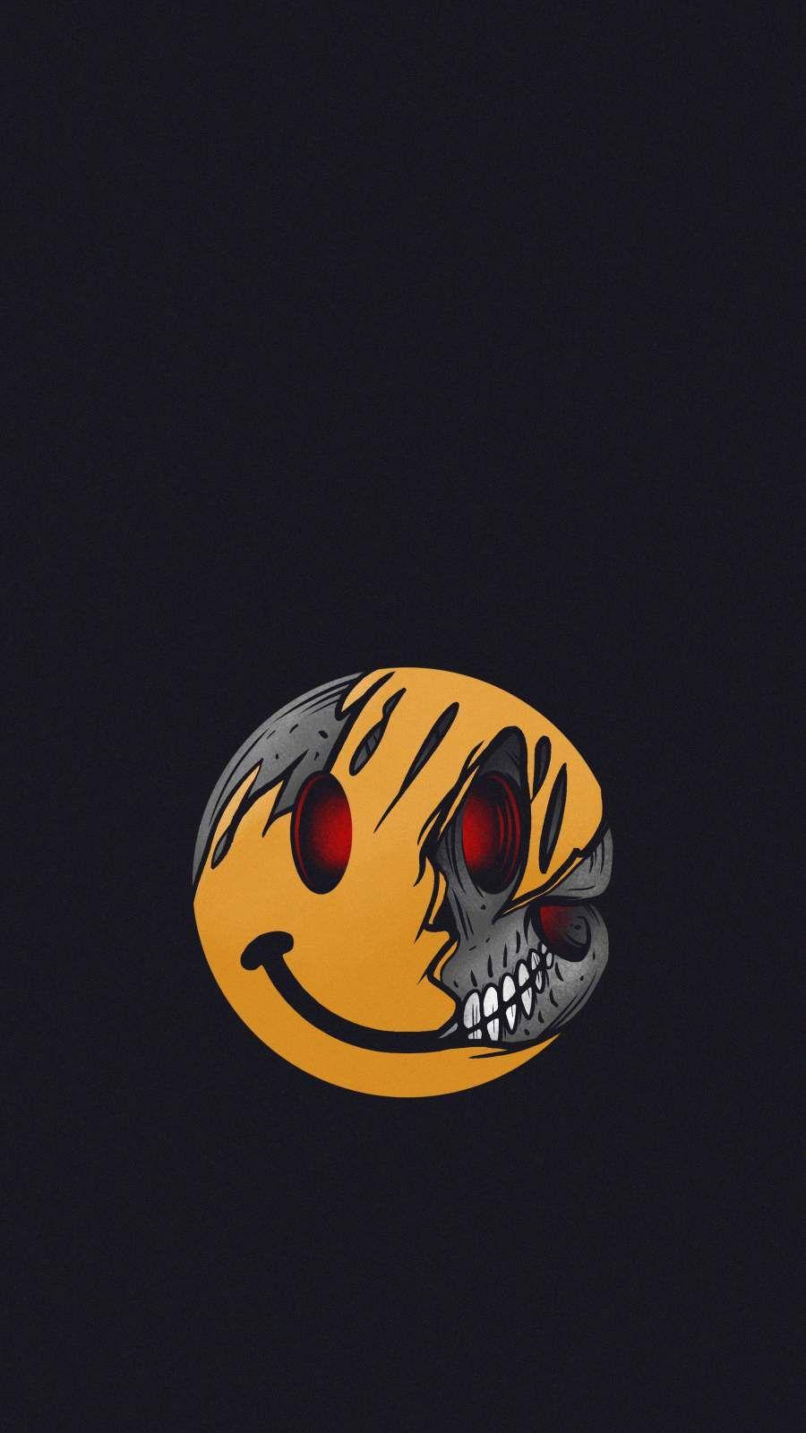 Dead Smiley iPhone Wallpaper - iPhone Wallpapers