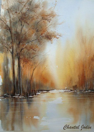 Chantal Jodin Paysage Ii With Images Watercolor Landscape
