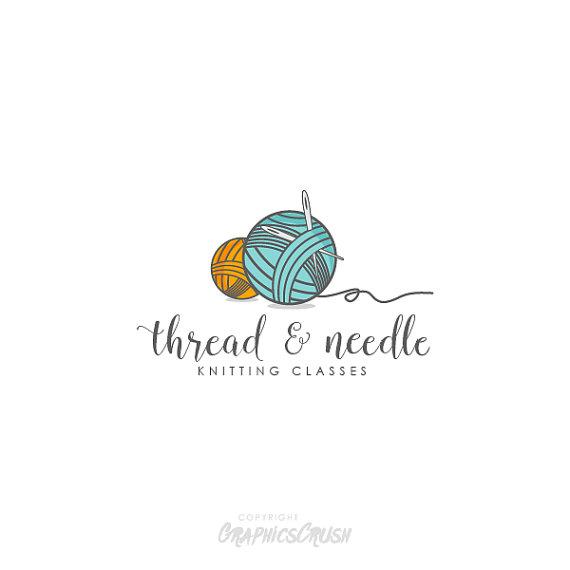 sewing logo design knitting logo thread ball logo poetry in rh pinterest com
