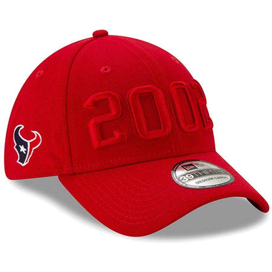 online shop wholesale online shoes for cheap Men's Houston Texans New Era Red 2019 NFL Sideline Color Rush ...