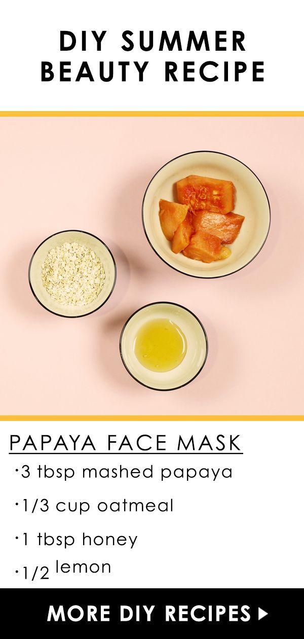 Homemade papaya facial mask solved