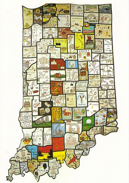 Really cool county map of Indiana