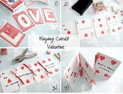 Buggie and Jellybean Simple Valentines Day crafts with a deck of – Valentine Playing Cards