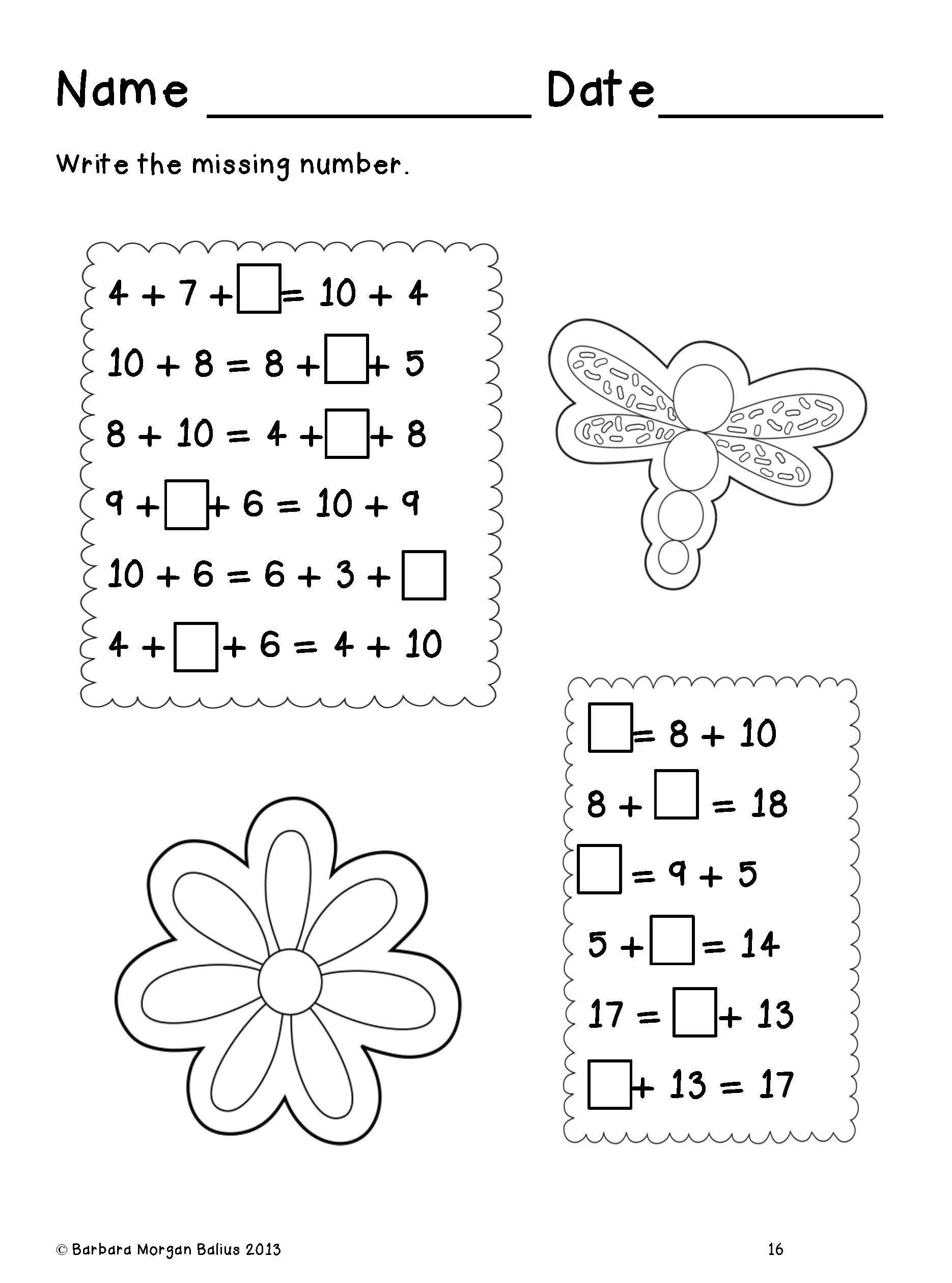 First Grade Math Frog Math A Spring Math Review