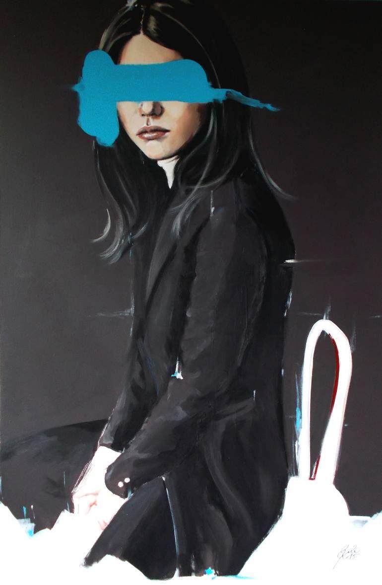 "Saatchi Art Artist Petra Kaindel; Painting, ""Disturbia (goes to gallery exhibition)"" #art"