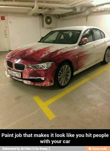 Paint job that looks like you've hit people.