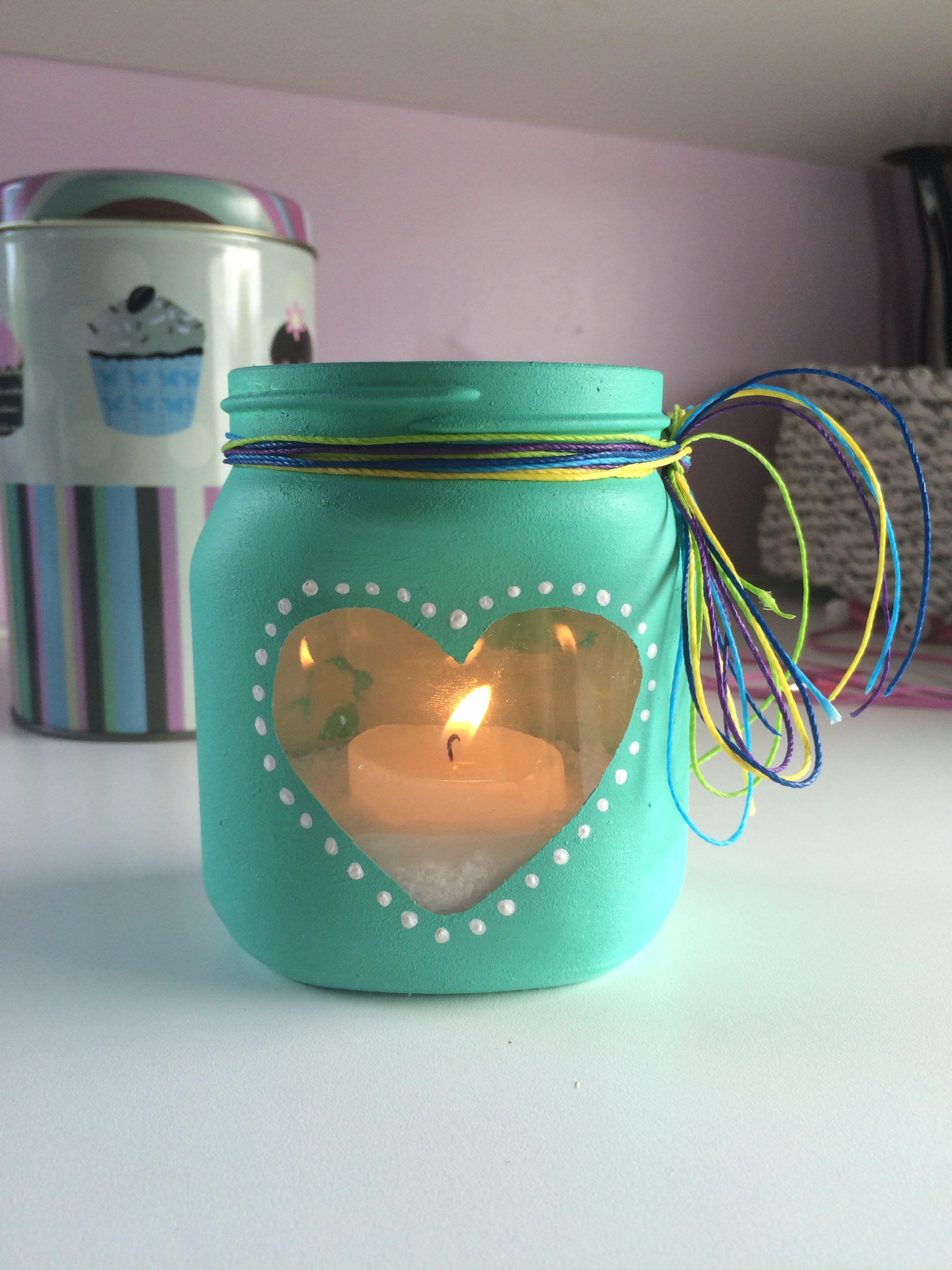 nutella jar transformed diy easy candle basteln pinterest weihnachtsbasar aus alt mach. Black Bedroom Furniture Sets. Home Design Ideas