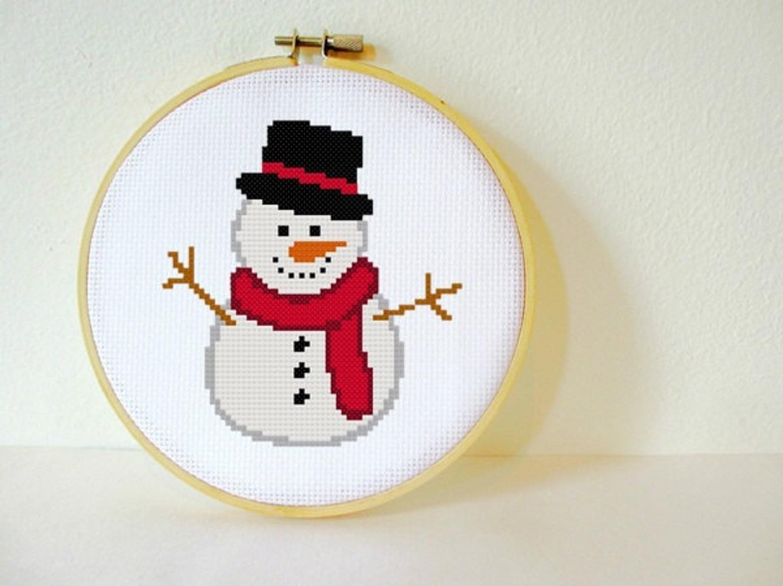 Cross stitch pattern Santa Claus PDF instantan\u00e9 Enfants Kids Snow PDF instant download  No\u00ebl Grille point de croix Neige