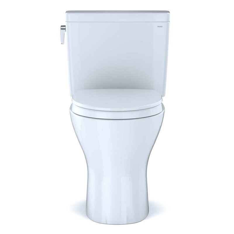 Drake Two Piece Elongated Dual Flush 1 6 And 0 8 Gpf Universal Height Dynamax Tornado Flush Toilet With Cefiontect Washlet Ready Seat Included Washlet Flush Toilet Flush