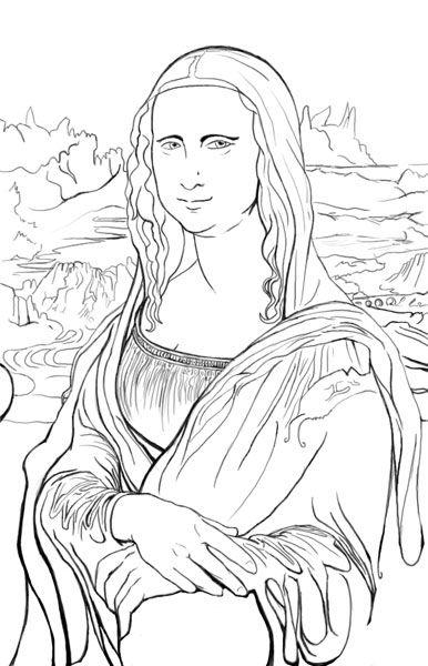 Leonardo Da Vinci Bild Art Coloring Pages Och Coloring Books