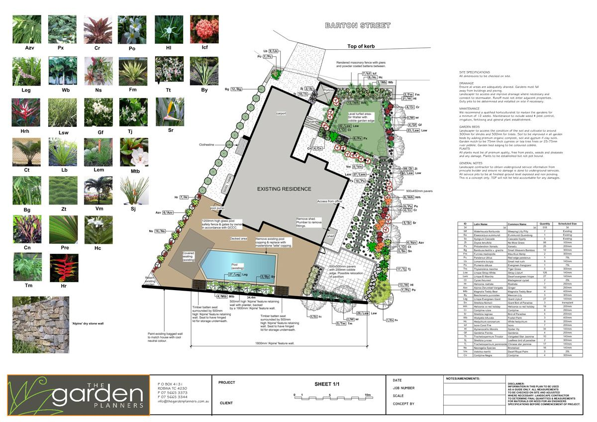 landscape plans | Gardens | Oaktree Landscaping | Pinterest ...