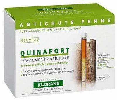 Klorane Quinafort Femme Kinin İçeren Bayan Tipi Saç Dökülmesine Karşı Bakım Losyonu Ampul 12 x 5 ml - Parfumerie et parapharmacie - Klorane