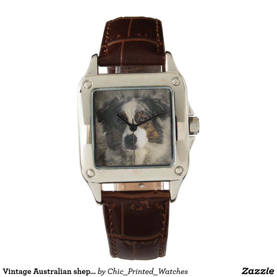 Vintage Australian Shepherd Dog Watch Zazzle Com Australian Shepherd Dogs Australian Shepherd Vintage