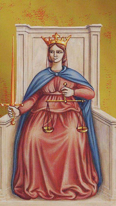 VIII. Justice - Giotto Tarot by Guido Zibordi