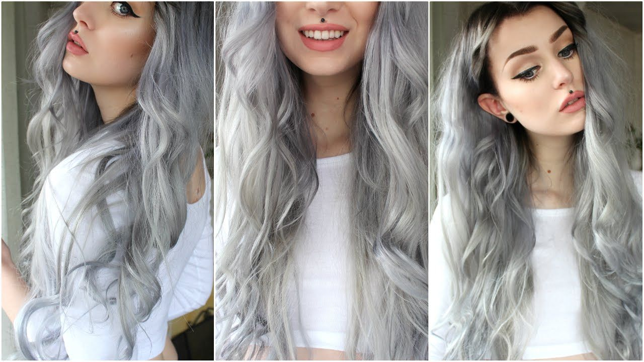 How to Dark Grey/Silver & Black Roots Evelina Forsell