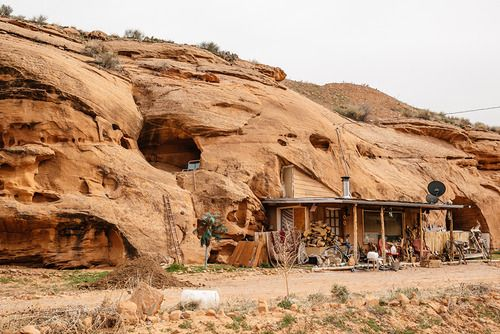 Cabinporn: U201cRed Rock Cabin (with Cave Balcony) Outside Moab, Utah.  Photograph By John U201cProllyu201d Watson.
