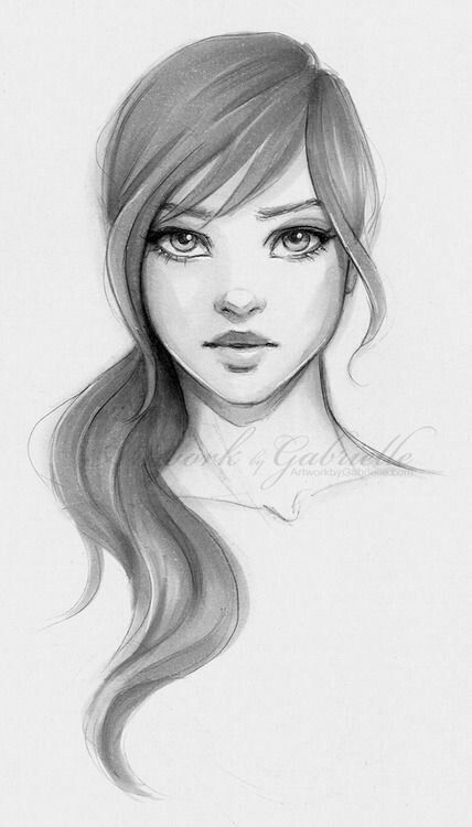 Girl - Unknown | Easy portrait drawing, Portrait drawing ...