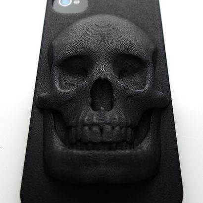 Skull 3D Printed Case by Hugo Arcier #Skull