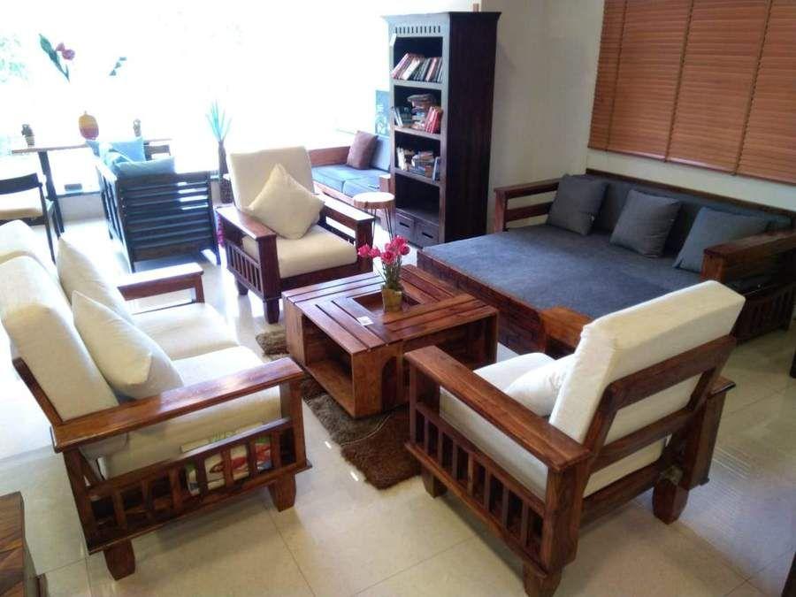 Solid Wood Jodhpur Sofa Set Furniture Wood Sofa Sofa Set