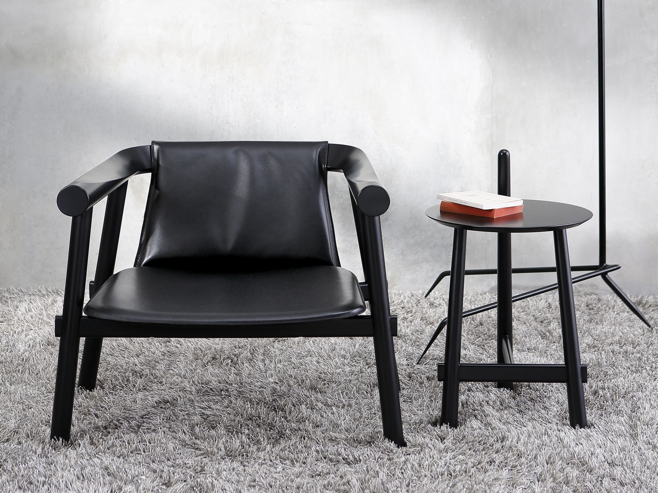 Leather armchair with armrests ALTAY Altay Collection by