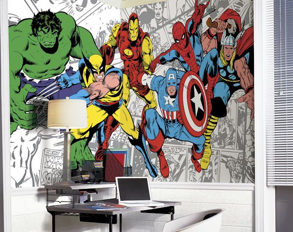 Charming Marvel Classic Character XL Mural 6.5 X 10 Feet   Wall Sticker Outlet