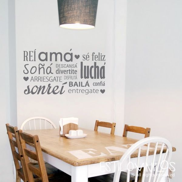 Lindisima frase de estilovinilos deco pinterest for Vinilos frases habitacion