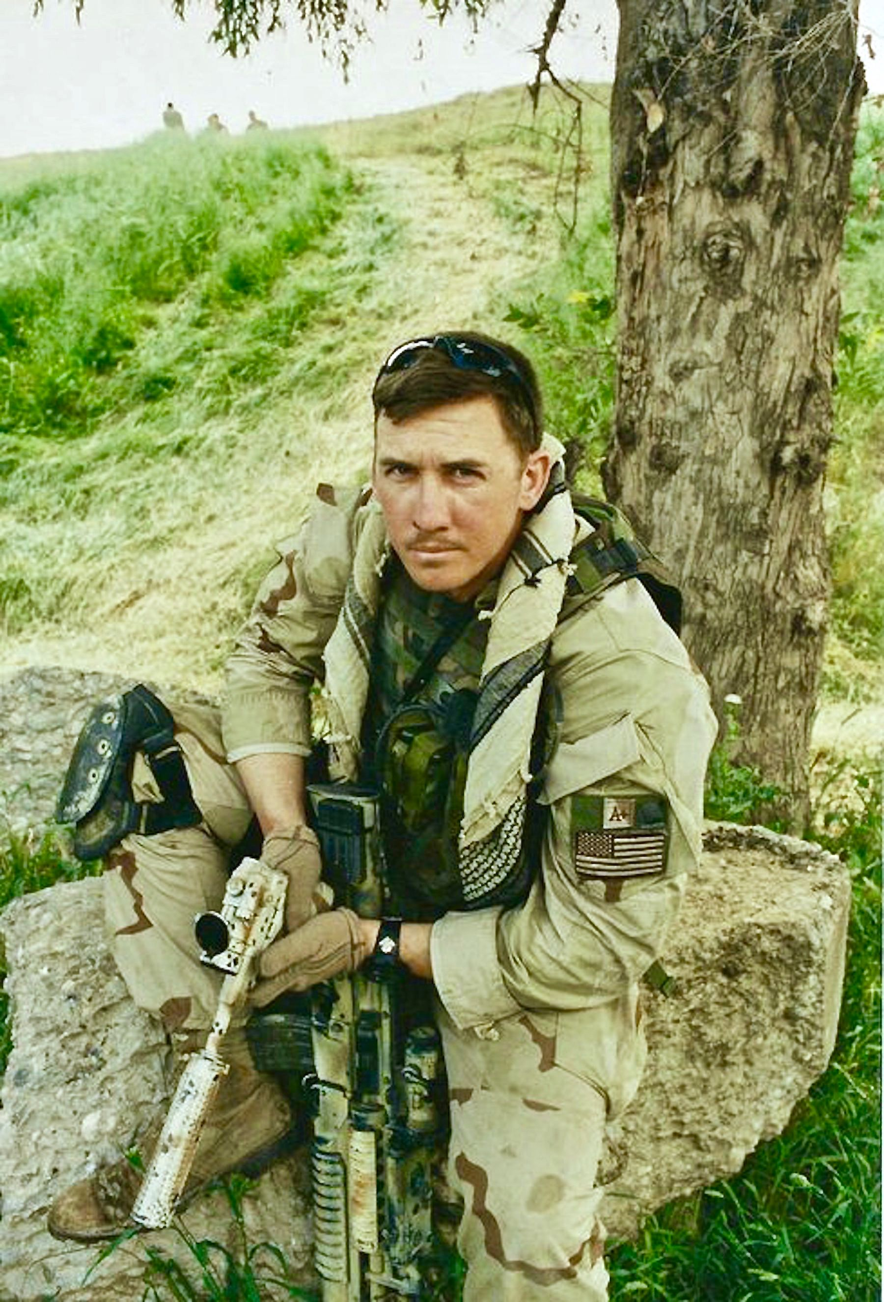 Travis Haley during his Force Recon OP days. [18002650]