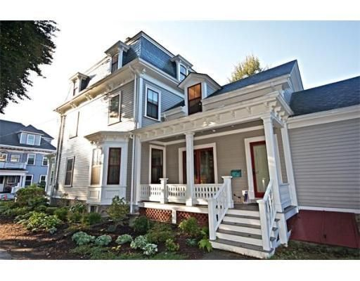 C1870s Mansard Victorian Former Home Of Wm Ellison Brigham Jamaicaplain Boston With Images New England Homes Historic New England House Styles