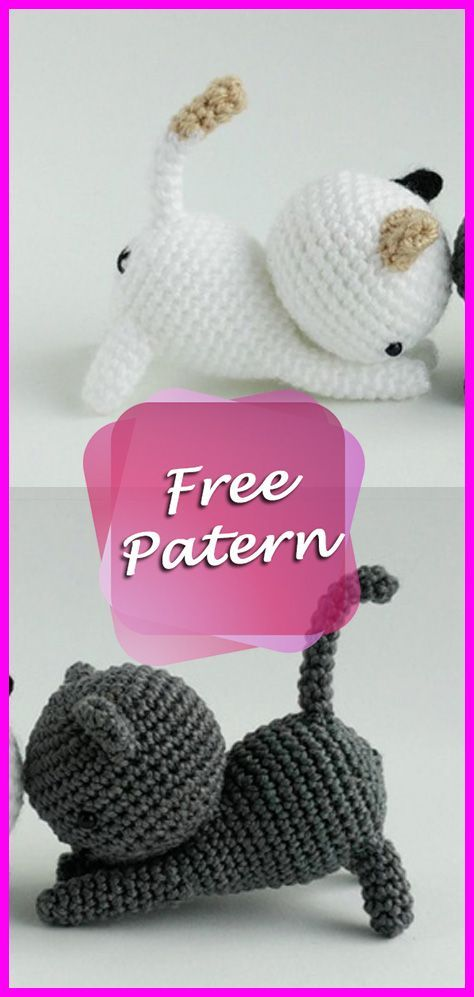 Cats Crochet Amigurumi Pattern Free #crochetamigurumifreepatterns